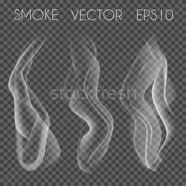 ベクトル セット 透明な 現実的な 白 グレー ストックフォト © Fosin