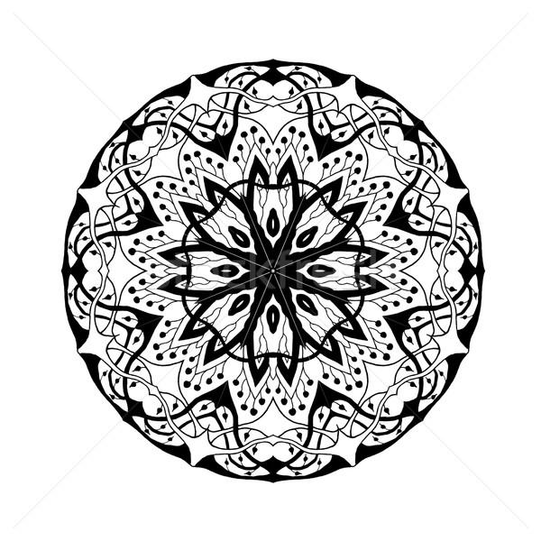 Mandala etnik soyut dekoratif elemanları Stok fotoğraf © Fosin