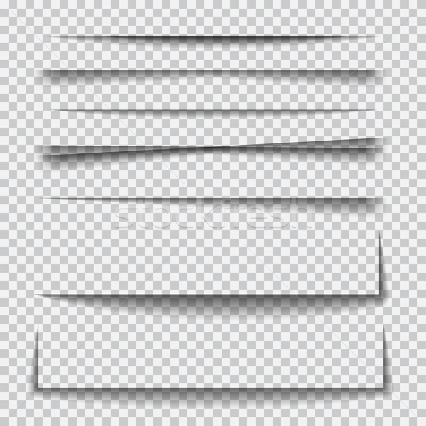 Set of transparent realistic paper shadow effects Stock photo © Fosin