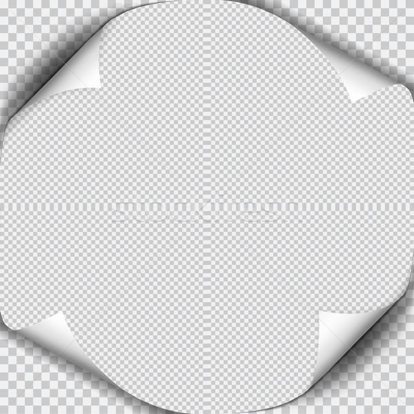 Sayfa gölge levha kâğıt beyaz etiket Stok fotoğraf © Fosin