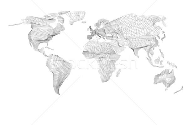 世界地図 抽象的な ヴィンテージ コンピュータ グラフィック 黒 ストックフォト © Fosin