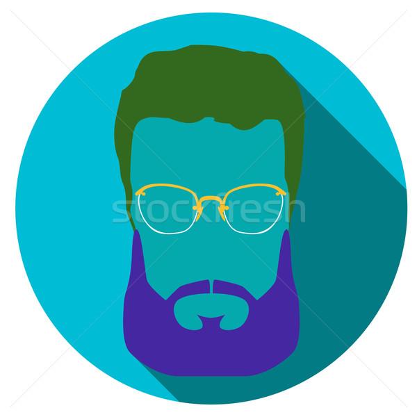 スーパーヒーロー マスク 眼鏡 あごひげ 髪 スタイル ストックフォト © Fosin