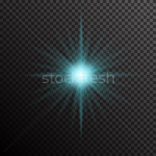 Glühend Licht Burst transparent dunkel Stock foto © Fosin