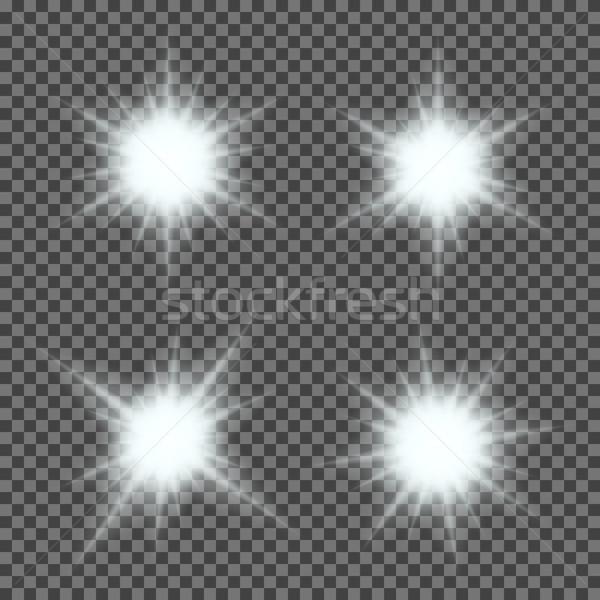 Stok fotoğraf: Vektör · ayarlamak · ışık · şeffaf · eğim