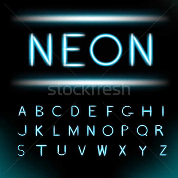 Stock fotó: Neon · fény · ábécé · betűtípus · cső