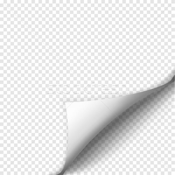 Oldal árnyék lap papír fehér matrica Stock fotó © Fosin