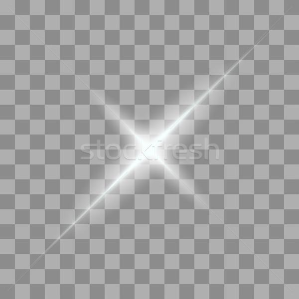 Vektör ışık şeffaf eğim Yıldız Stok fotoğraf © Fosin