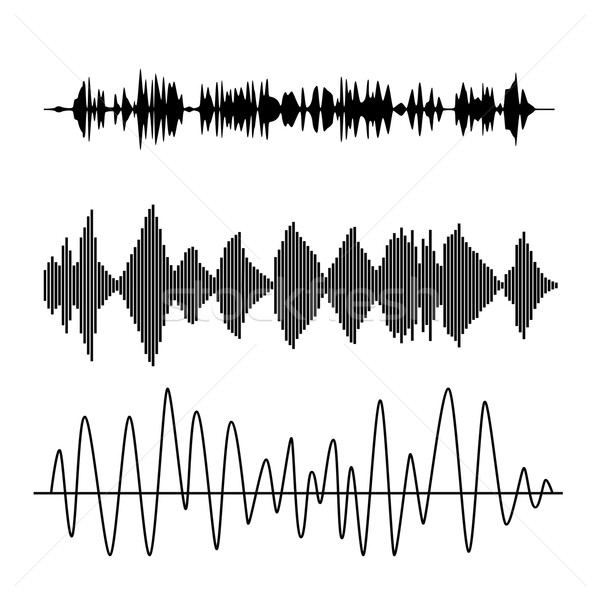 サウンド 波 ベクトル セット オーディオ 技術 ストックフォト © Fosin