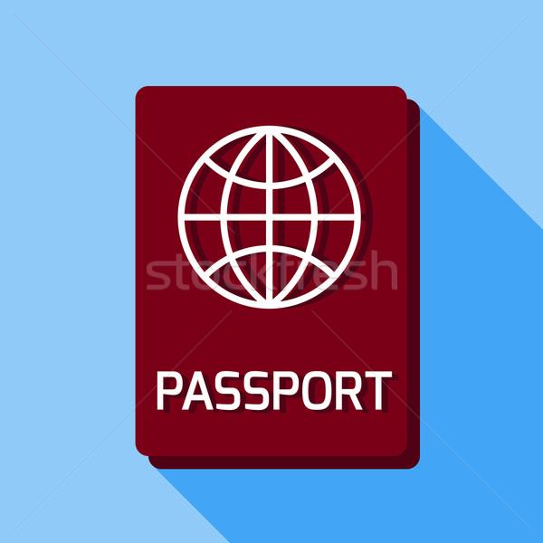 Alapvető útlevél légi utazás üzlet háttér szolgáltatás Stock fotó © Fosin