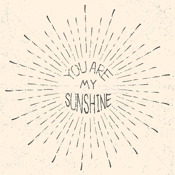 Meu luz do sol romântico citar gráfico Foto stock © Fosin
