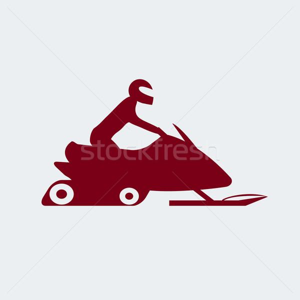 Sürücü aşırı spor ikon eps arka plan Stok fotoğraf © Fosin