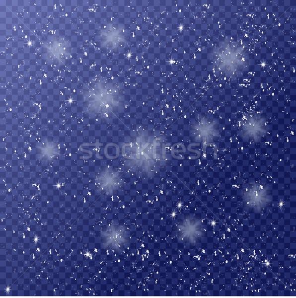 冬 テンプレート 下がり 白 雪 クリスマス ストックフォト © Fosin