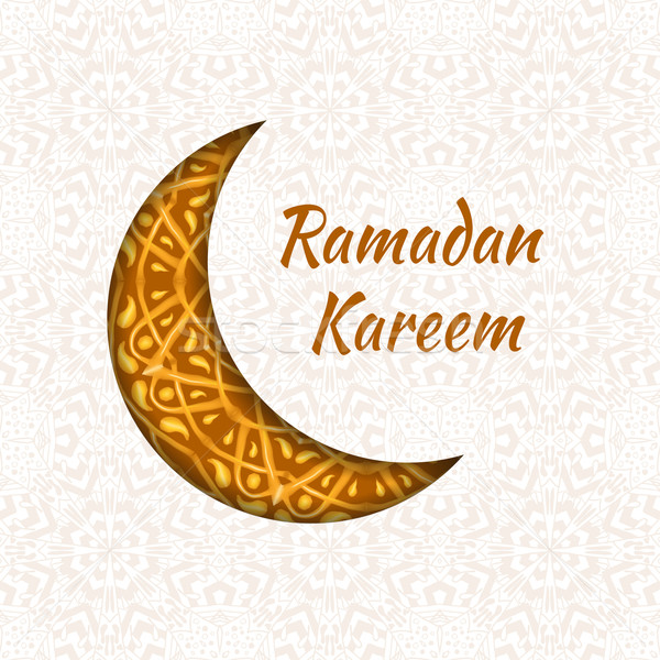 Ramadan Kareem greeting design background Stock photo © Fosin