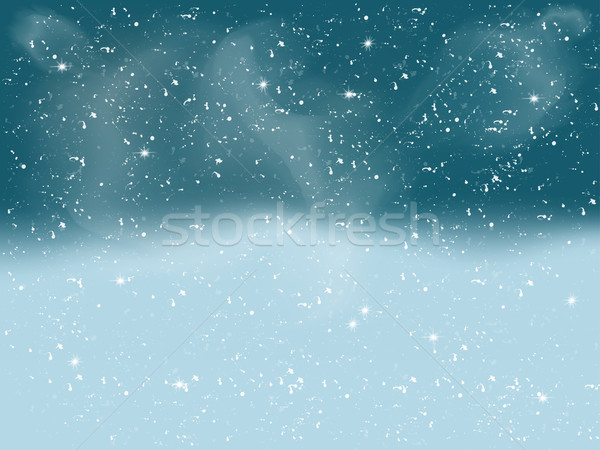 Winter landschap vallen witte sneeuw christmas Stockfoto © Fosin