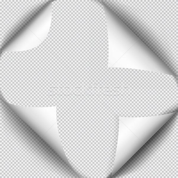 Página sombra folha papel branco adesivo Foto stock © Fosin