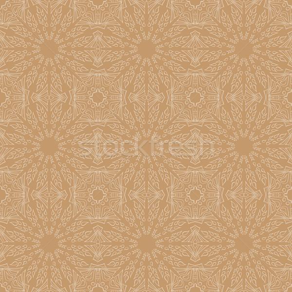 мандала цветочный этнических аннотация декоративный Сток-фото © Fosin