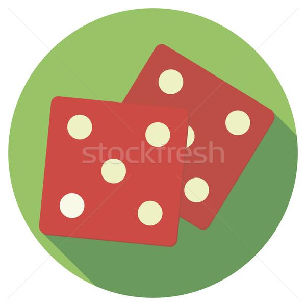 Vector illustration of dice Stock photo © Fosin