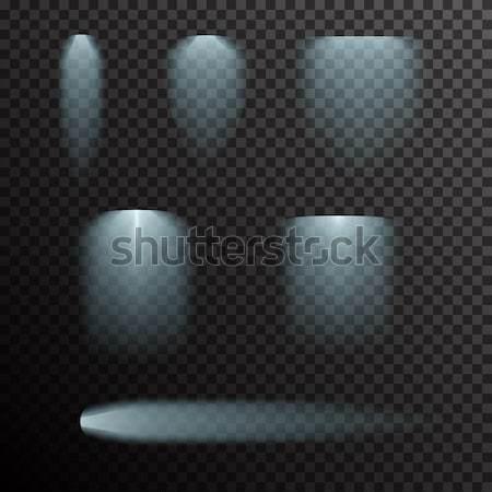 Vektor szett izzó fény fekete gradiens Stock fotó © Fosin
