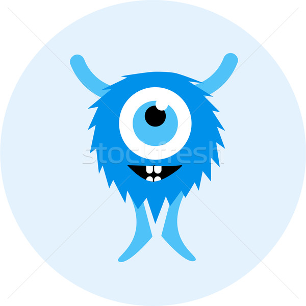 Vector set of cartoon cute monsters and aliens. Stock photo © Fosin