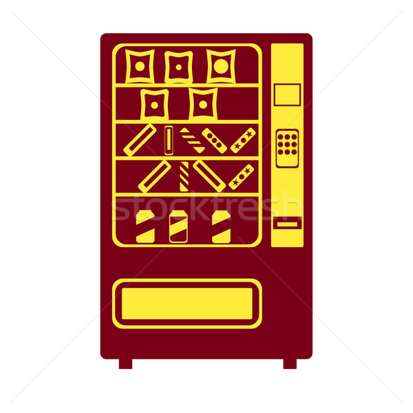 Automaat icon eps 10 business chocolade Stockfoto © Fosin