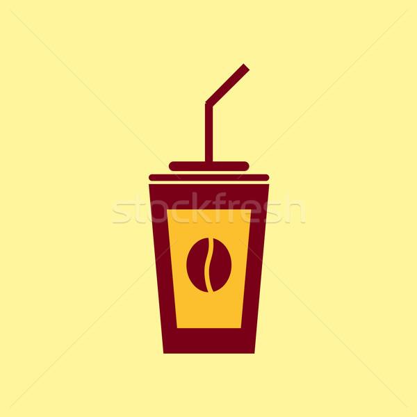 ファストフード ベクトル アイコン コーヒー 絵文字 食品 ストックフォト © Fosin