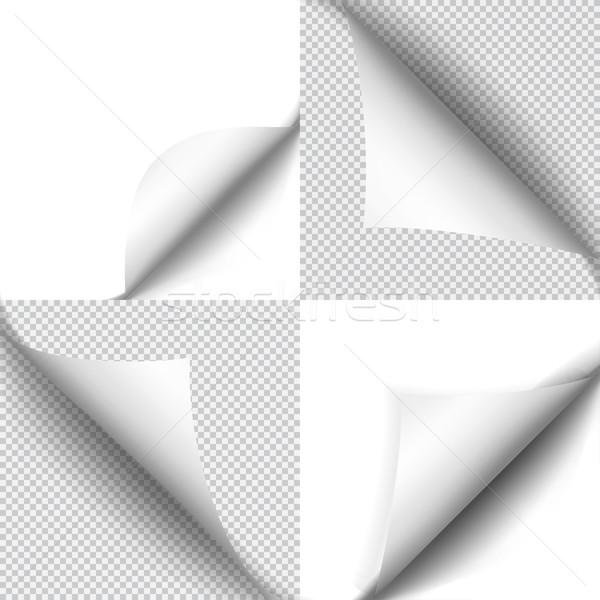 影 シート 紙 白 ステッカー ストックフォト © Fosin