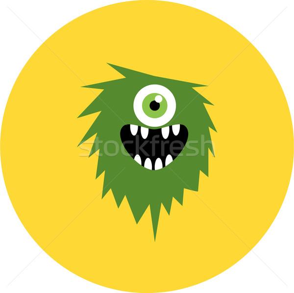 Foto stock: Vetor · conjunto · desenho · animado · bonitinho · monstros · festa