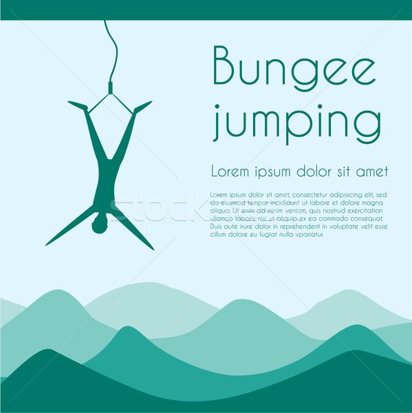 Atlama halat aşırı spor siluet kişi Stok fotoğraf © Fosin