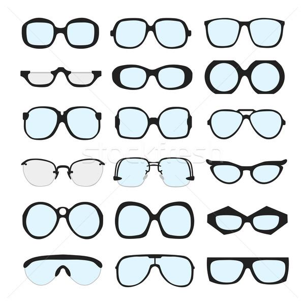 Vektör ayarlamak farklı gözlük lensler beyaz Stok fotoğraf © Fosin