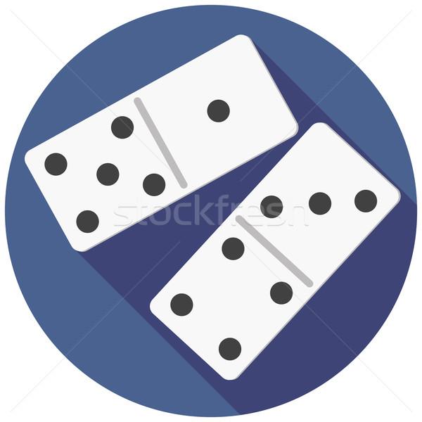 Zarlar domino stil dizayn kumarhane renk Stok fotoğraf © Fosin