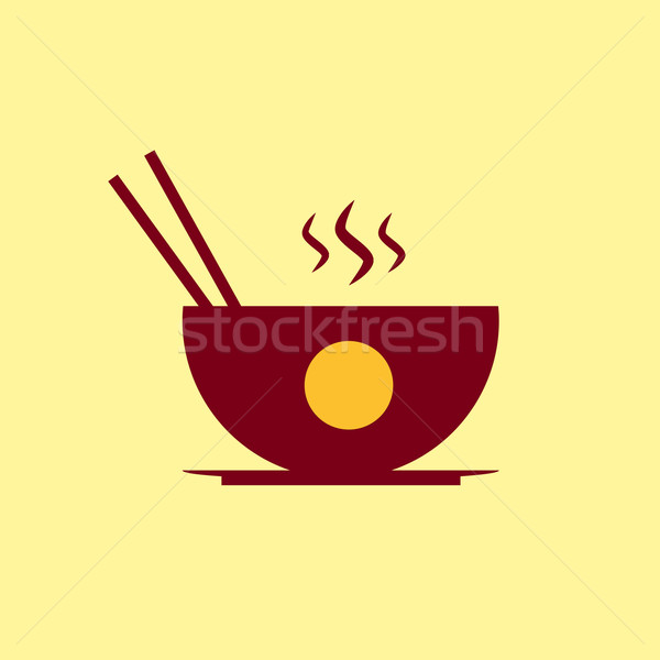 Fast food vector icon. Chinese food pictogram. Stock photo © Fosin