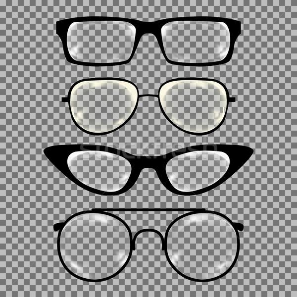 セット カスタム 眼鏡 孤立した 白 モデル ストックフォト © Fosin