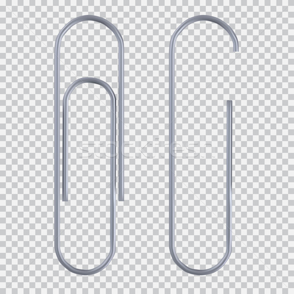 Realistic paper clip Stock photo © Fosin
