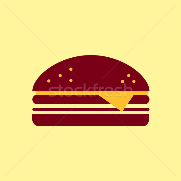 Fast food vector icon. Burger pictogram. Stock photo © Fosin