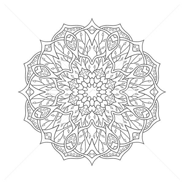 Mandala. Floral ethnic abstract decorative elements Stock photo © Fosin