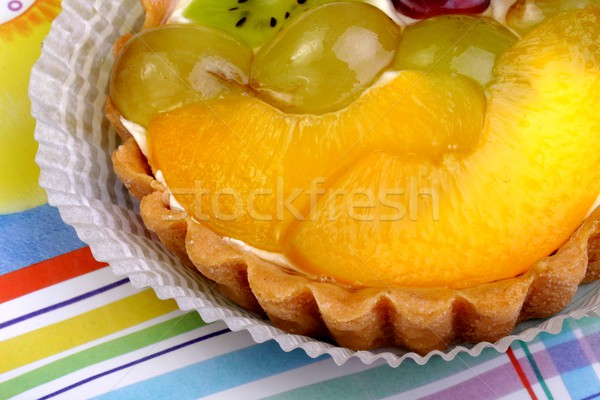 Stock photo: shortbread cake with fruit