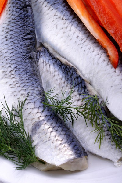 Herring with dill Stock photo © Fotaw