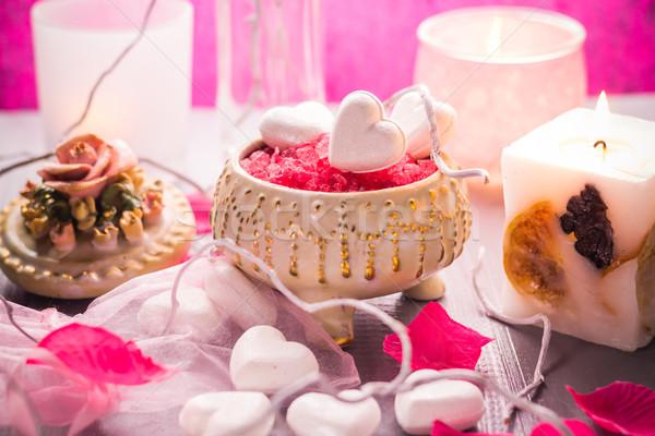 Spa san valentino cuore amore corpo Foto d'archivio © fotoaloja
