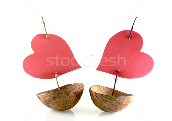 Stock photo: love boats