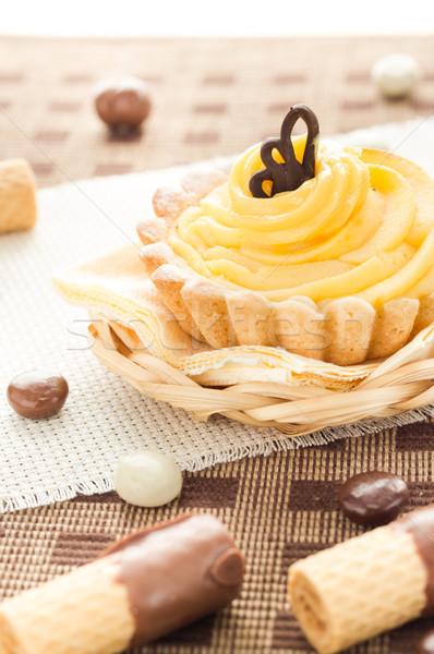 édes krém torta csokoládé nápolyi cukorka Stock fotó © fotoaloja