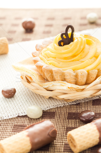 Sweet cream cake chocolate wafers candy Stock photo © fotoaloja