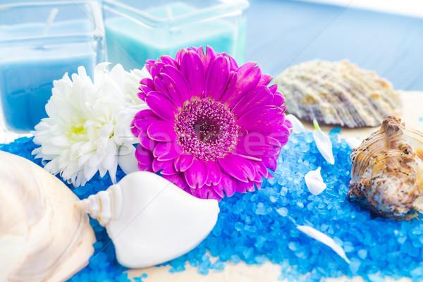 Spa ingesteld bloemen bloem gezondheid Stockfoto © fotoaloja