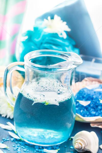 Rahatlatıcı spa banyo aromatik tuz kabukları Stok fotoğraf © fotoaloja