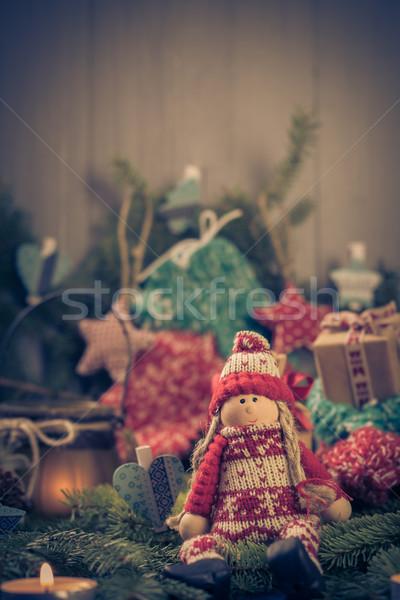 Babbo natale Natale ornamenti verde pino aghi Foto d'archivio © fotoaloja