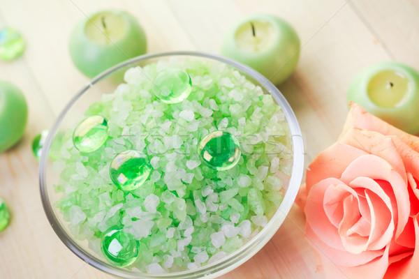 塩 バス 健康 自然 健康 美 ストックフォト © fotoaloja