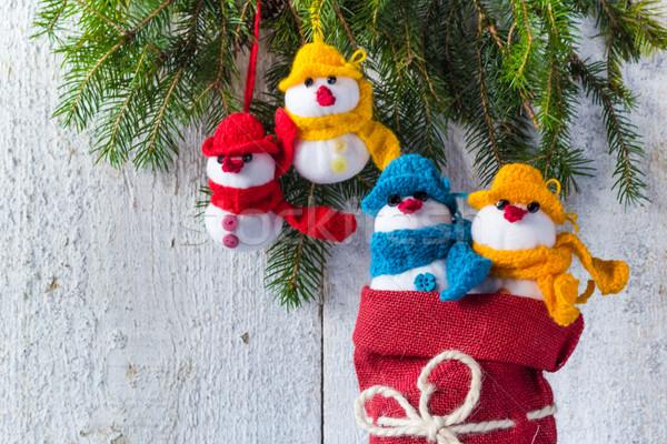ボード 木製 クリスマス 冬 豪華な チーム ストックフォト © fotoaloja