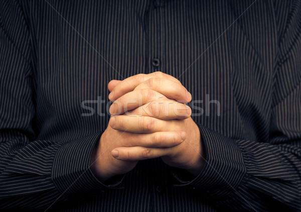Homem camisas dobrado mãos mão Foto stock © fotoaloja