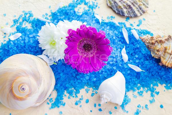 Estância termal conjunto flores flor saúde Foto stock © fotoaloja