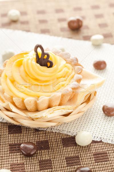 Dessert sweet cream cake chocolate candies Stock photo © fotoaloja