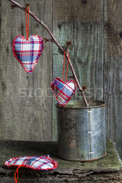 Heart sprig can board Stock photo © fotoaloja
